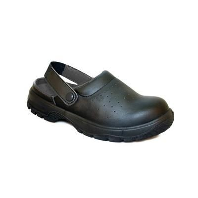 Picture of DENNYS COMFORT GRIP SAFETY SANDAL in Black