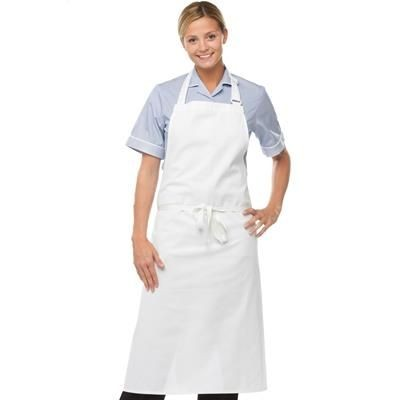 Picture of DENNYS COTTON BIB APRON in White