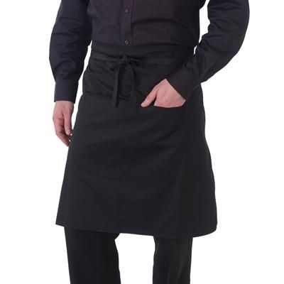 Picture of DENNYS ECONOMY WAIST APRON with Pocket in Black
