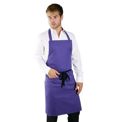 Picture of DENNYS POLYCOTTON BIB APRON with Pocket