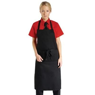 Picture of DENNYS ECONOMY BIB APRON with Pocket in Black