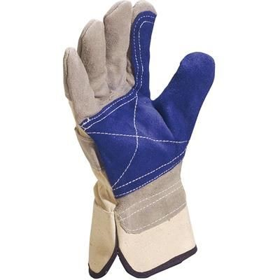 Picture of VENITEX COWHIDE SPLIT LEATHER GLOVES in Blue & Grey