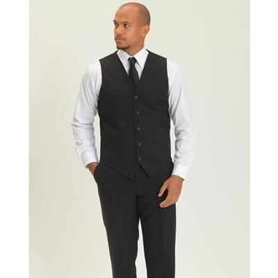 Picture of DENNYS UNISEX BAR WAISTCOAT in Black