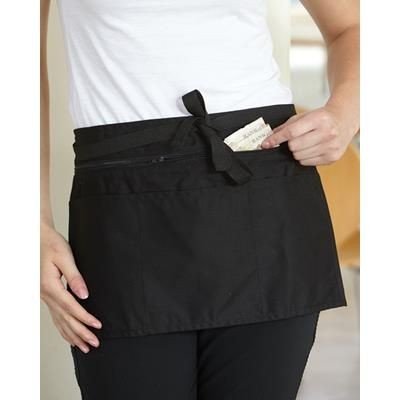 Picture of DENNYS FULL ZIP MULTI POCKET MONEY APRON in Black