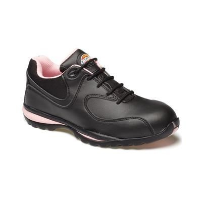 Picture of DICKIES OHIO LADIES SAFETY TRAINERS in Black & Pink