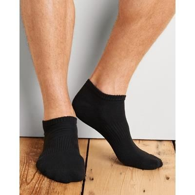 Picture of GILDAN NO SHOW MENS SOCKS in Black