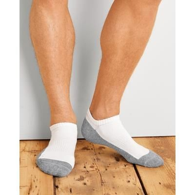 Picture of GILDAN NO SHOW MENS SOCKS in White