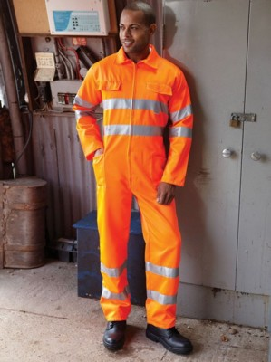 Picture of YOKO HI VISIBILITY POLYCOTTON OVERALL BOILER SUIT