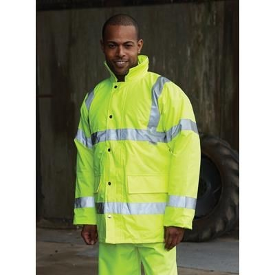 Picture of YOKO HI VISIBILITY CONTRACTOR JACKET in Hi Vis Yellow