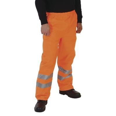 Picture of YOKO HI-VIS WATERPROOF OVER TROUSERS in Hi Vis Orange