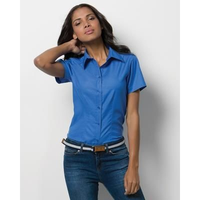 Picture of KUSTOM KIT LADIES WORKPLACE PINPOINT OXFORD SHORT SLEEVE SHIRT