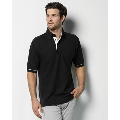 Picture of KUSTOM KIT BUTTON DOWN COLLAR CONTRAST POLO SHIRT