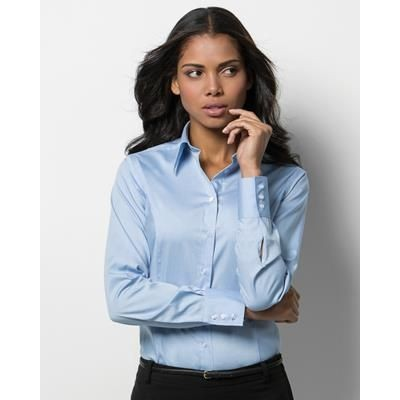 Picture of KUSTOM KIT LADIES LONG SLEEVE PREMIUM OXFORD SHIRT