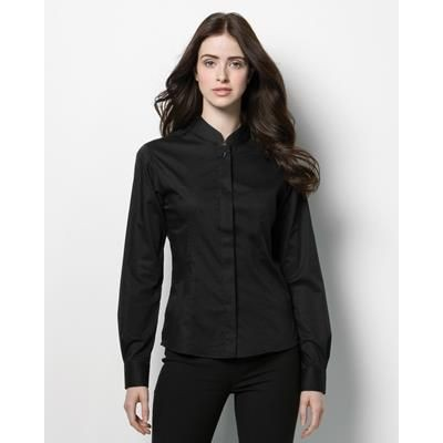 Picture of KUSTOM KIT BARGEAR LADIES LONG SLEEVE BAR SHIRT in Black