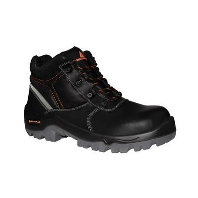 Delta Plus Ohio 3 S3 Black Leather Composite Toe Cap Metal Free Safety Boots PPE