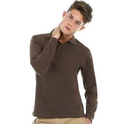Picture of B&C MENS SAFRAN LSL POLO SHIRT