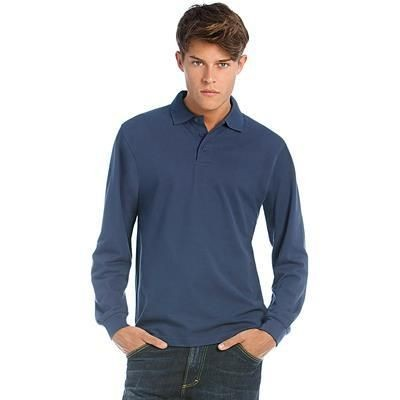 Picture of B&C HEAVYMILL LSL POLO SHIRT