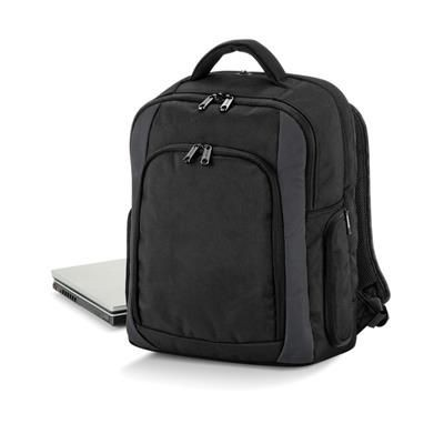 Picture of QUADRA TUNGSTEN LAPTOP BACKPACK RUCKSACK in Black & Dark Graphite Grey