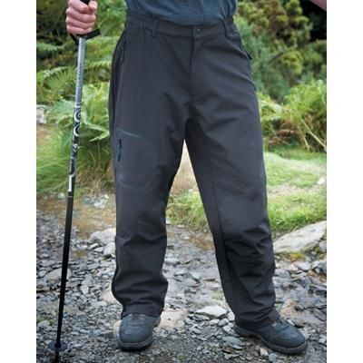 Picture of RESULT TECH PERFORMANCE SOFTSHELL TROUSERS in Black