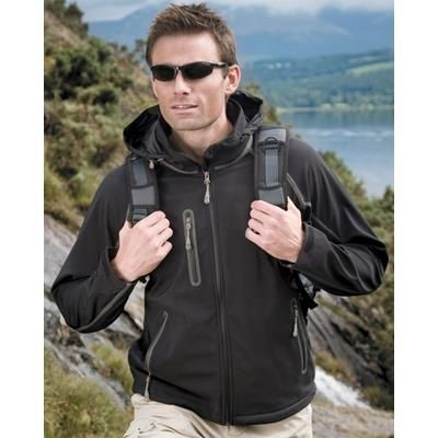 Picture of RESULT TECH PERFORMANCE SIGNATURE SOFTSHELL JACKET in Black