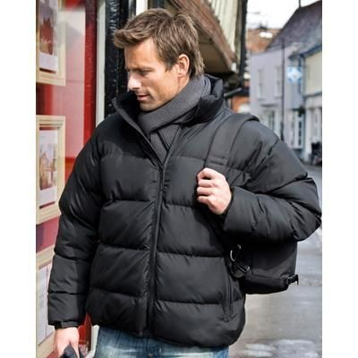 Picture of RESULT HOLKHAM DOWN FEEL JACKET in Black