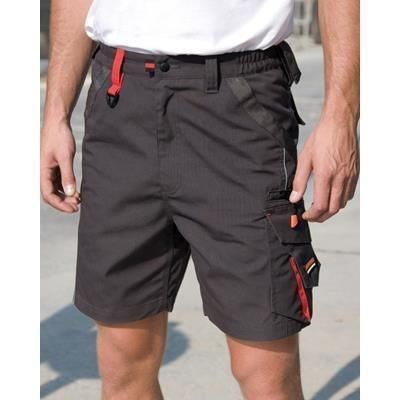 Picture of RESULT WORKGUARD TECHNICAL SHORTS in Grey & Black