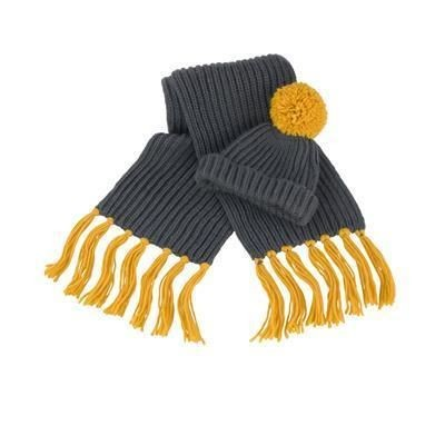 Picture of RESULT WINTER CHUNKY KNIT HAT & SCARF SET