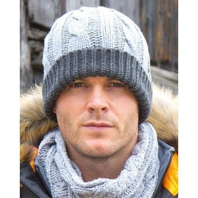 Picture of RESULT SHADES OF GREY KNITTED HAT