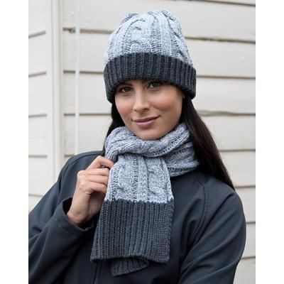 Picture of RESULT SHADES OF GREY KNITTED SCARF