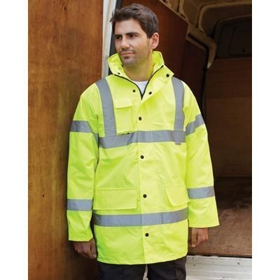 Picture of DICKIES MOTORWAY JACKET in High Visibility Yellow