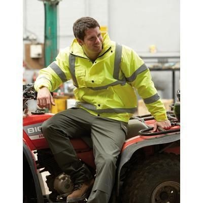 Picture of DICKIES HIGH VISIBILITY BOMBER JACKET in High Visibility Yellow