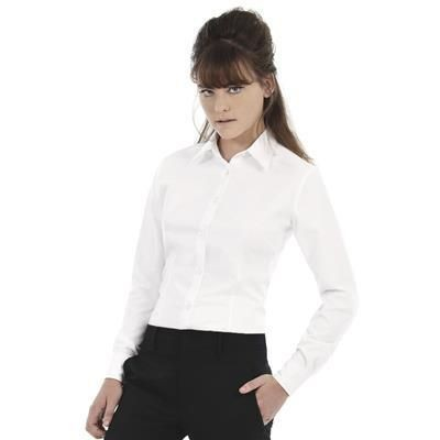 Picture of B&C LADIES OXFORD LONG SLEEVE SHIRT