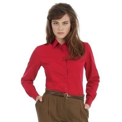 Picture of B&C LADIES SMART LONG SLEEVE SHIRT