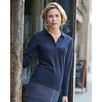 Picture of TEE JAYS LADIES LUXURY STRETCH LONG SLEEVE POLO SHIRT