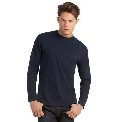 Picture of B&C MENS EXACT 150 LONG SLEEVE TEE SHIRT