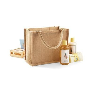 Picture of WESTFORD MILL JUTE MINI GIFT SHOPPER TOTE BAG in Natural