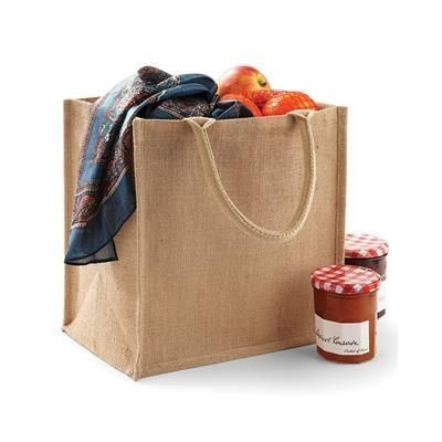 Picture of WESTFORD MILL JUTE MIDI SHOPPER TOTE BAG in Natural