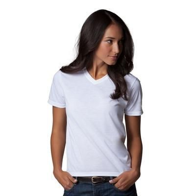 Picture of XPRES LADIES SUBLI PLUS V NECK TEE SHIRT