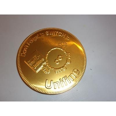 Picture of 100MM BELGIAN CHOCOLATE COIN