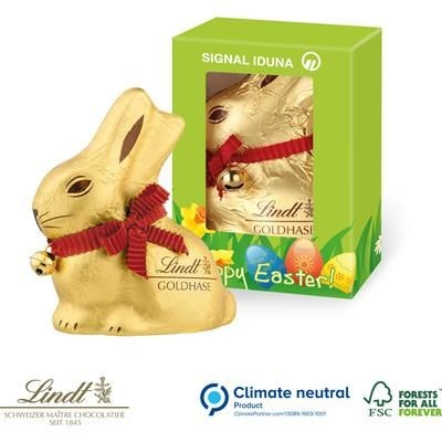Picture of PERSONALISED LINDT 100G BOXED BUNNY RABBIT