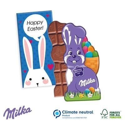 Picture of MILKA BUNNY RABBIT SHAPE CHOCOLATE BAR