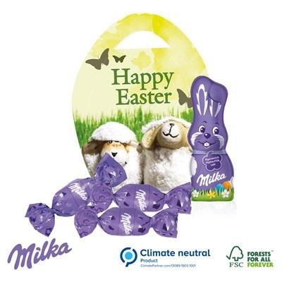 Picture of MILKA PERSONALISED CHOCOLATE EASTER EGG BASKET