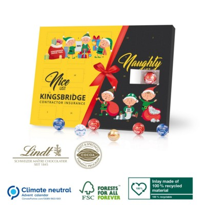 Picture of PERSONALISED ADVENT CALENDAR with Gourmet Lindt Filled Chocolate