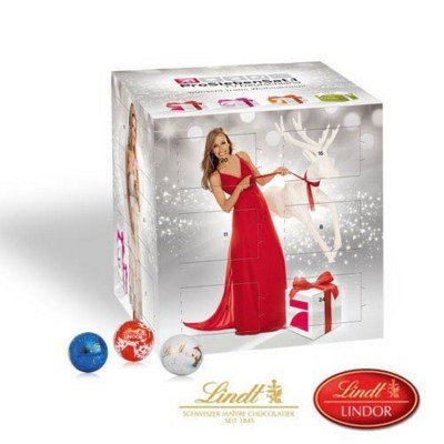 Picture of PERSONALISED LINDT ADVENT CALENDAR CUBE