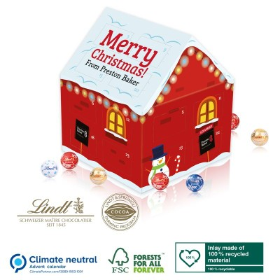 Picture of PERSONALISED HOUSE SHAPE ADVENT CALENDAR