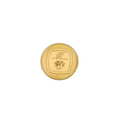 Picture of MEDIUM CHOCOLATE COIN PERSONALISED with Your Logo Moulded to One or Both Sides Sizes 55mm & 75mm Min