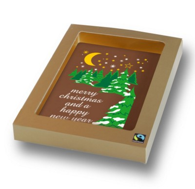 Picture of PERSONALISED PRINTED CHOCOLATE CHRISTMAS CARD