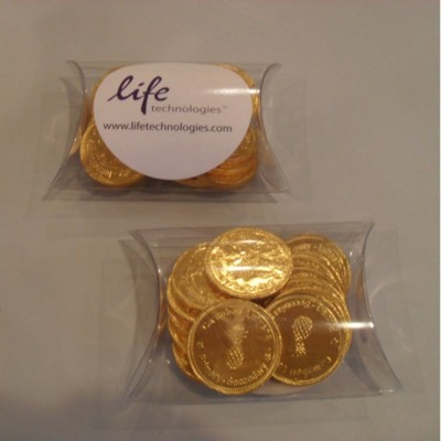 Picture of CHOCOLATE COIN in Personalised Domed Pouch