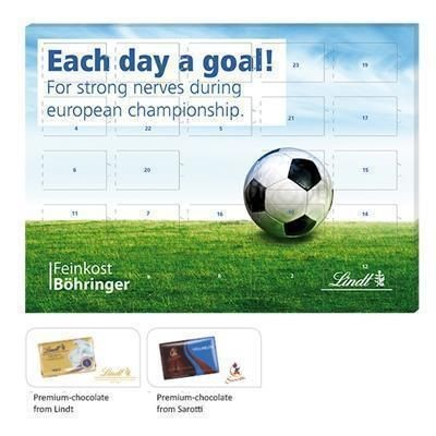 Picture of LINDT CHOCOLATE FOOTBALL COUNTDOWN CALENDAR
