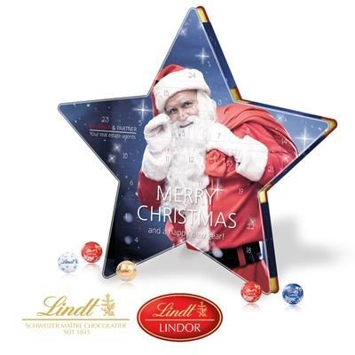 Picture of PERSONALISED LINDT STAR SHAPE ADVENT CALENDAR